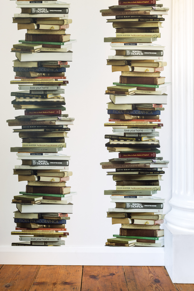 BOOKS (white) - Tracy Kendall Wallpaper (photo - Ollie Harrop)