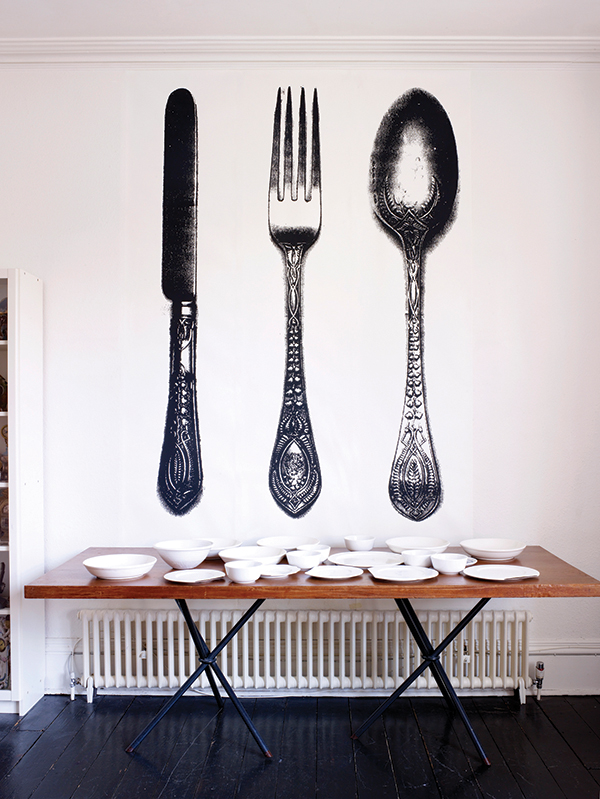 CUTLERY - Tracy Kendall Wallpaper (photo - Rachel Smith)