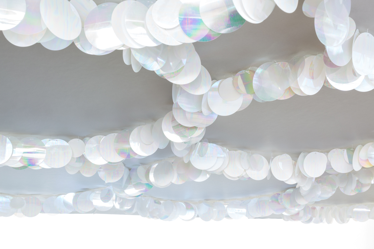 SEQUINS (on ceiling) - Tracy Kendall Wallpaper (photo - Ollie Harrop)