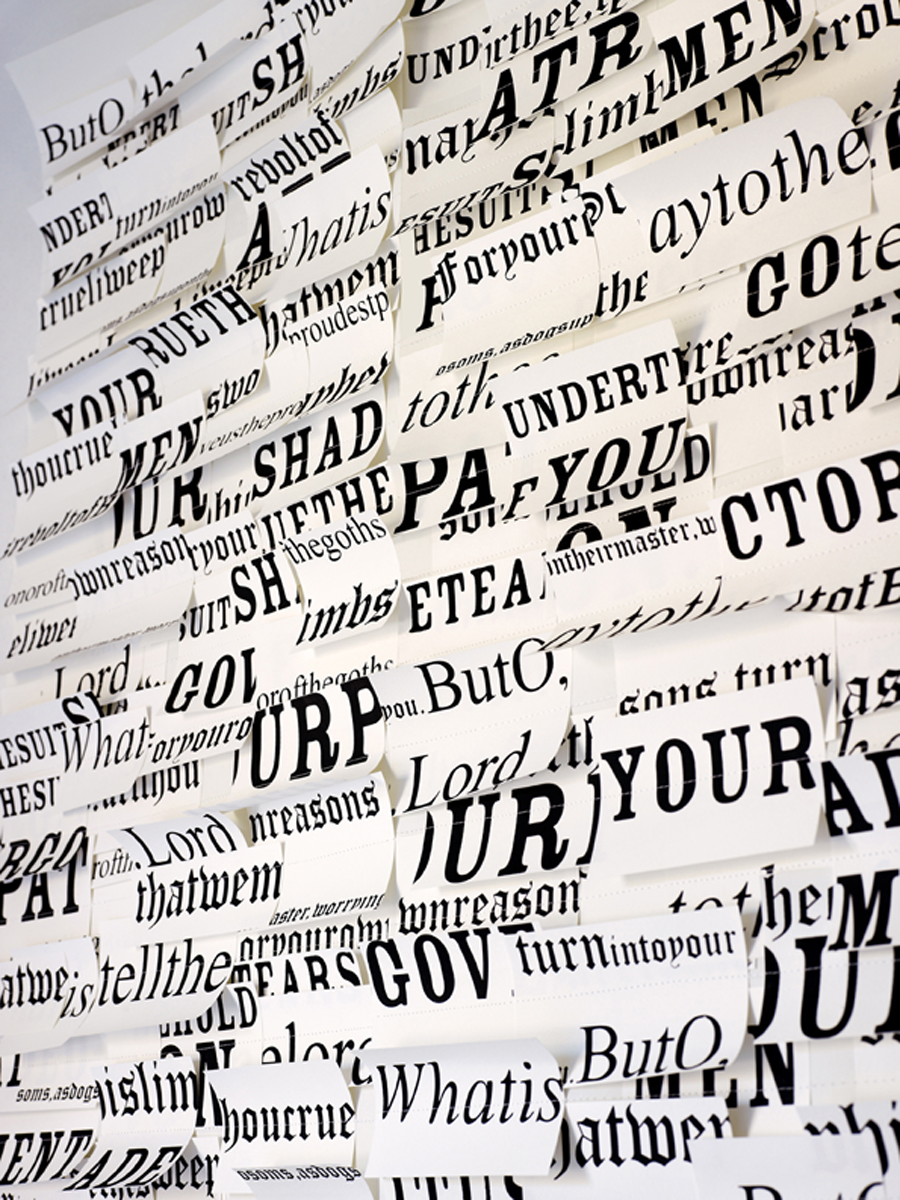 IN THE WHITE ROOM WITH TEXT - Tracy Kendall Wallpaper (photo - Rachel Smith)